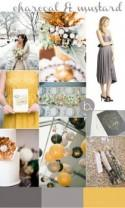 Charcoal & Mustard Inspiration for Twobirds Bridesmaid