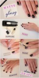 Manicure Monday: Matte and Glossy Nails