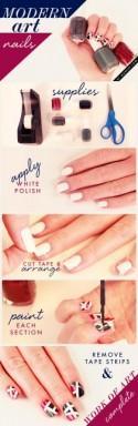 Manicure Monday: Modern Art Nails