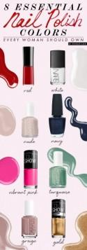 8 Essential Nail Polish Colors Every Woman Should Own