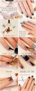 Manicure Monday: Fall Feathered Manicure