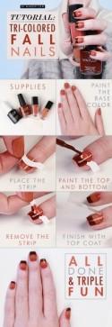 Manicure Monday: Tri-Colored Fall Nails