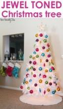 White Christmas Tree {Our Big Christmas Tree 2013}