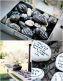 Get Creative: Wishing Stones Wedding Guest Book