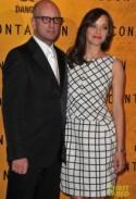 "Marion Cotillard Checkered Dress – ""Contagion"" Paris Premiere"