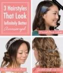 3 Hairstyles that Look Infinitely Better Accessorized