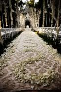 Fabric And Floral Wedding Aisle