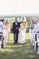Cassandra & Dylan's sweet and thrifty garden wedding
