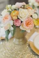 Contemporary Peach & Gold Wedding Inspiration with a Touch of Sparkle
