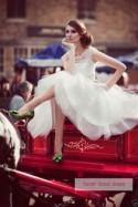 2014 New White/Ivory Knee-length Wedding Dress Bridal Gowns Custom Size