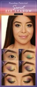Tuesday Tutorial: Sunset Eye Shadow
