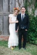 Modern Bohemian Wedding at The Flaming Lips Art Gallery: Bryan & Brittany