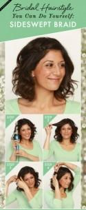 Bridal Hairstyle You Can Do On Yourself: Sideswept Braid