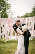 Backyard DIY vintage wedding