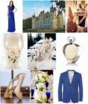 To the Chateau Born - cobalt blue wedding ideas