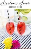 Sicilian Sour Cocktail By Anges De Sucre