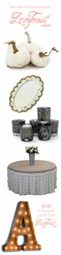 Decorate Your Wedding with LoveFeast Shop