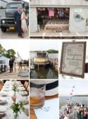 All aboard for this wedding on a boat! - The Bride's Guide : Martha Stewart Weddings