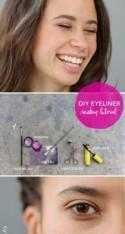 DIY Wedding Makeup: Bright Colorful Eyeliner