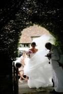 A peach & mint contemporary-classic Surrey Farm wedding with pink flamingos by Dasha Caffrey Photography