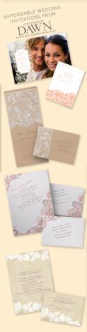 Lace Wedding Invitations by Invitations by Dawn