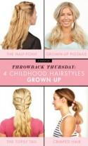 Throwback Thursday: Three Childhood Hairstyles Grown Up
