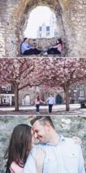 A Pink Blossom Engagement Shoot.