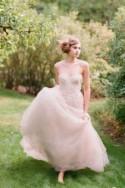 How To Wear A Blush Wedding Dress: 25 Stunning Ideas