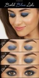 Tuesday Tutorial: Bold Blue Lids