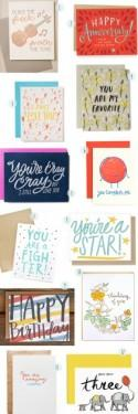 Stationery A-Z: Hand Lettered Greeting Cards