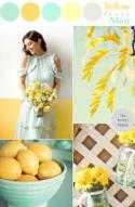 Mint Loves Yellow: Wedding Color Ideas