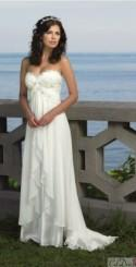 Ball Gown Strapless Beaded Sash Chapel Train Bridal Gowns,Wedding Dresses,Royal Wedding Dresses
