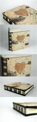 Custom Carved Birch Photo Album By Three Trees Bindery