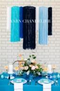 DIY Yarn Chandelier Ruffled
