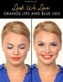 Look We Love: Orange Lips and Blue Lids