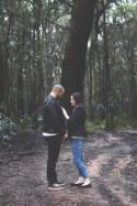 Autumn Forest Engagement - Polka Dot Bride