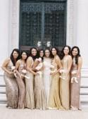 Sparkly Bridesmaid Gowns - Polka Dot Bride