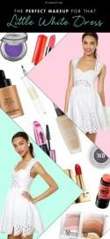 The Perfect Makeup for the Little White Dress