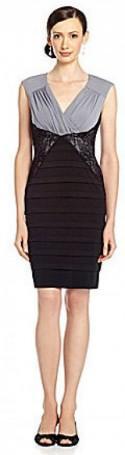 Sangria Lace-Inset Shutter Dress