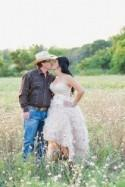 Western Chic Wedding : Pink Ruffles and Cowboy Boots - Belle the Magazine . The Wedding Blog For The Sophisticated Bride