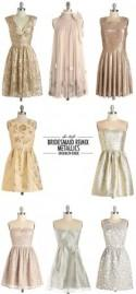 Phi-Style: Bridesmaid Remix - Metallics - Brooklyn Bride - Modern Wedding Blog