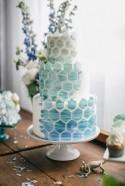 11 Amazing Geometric and Mosaic Wedding Cakes