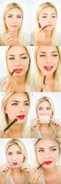 DIY Bright And Bold Red Lips.