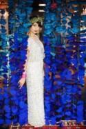 Dazzling Blue DIY Fabric Circle Wedding Backdrop