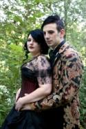 Abigail & Kevin's candlelit gothic wedding in the woods