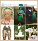 Green and Beige Wedding Colors