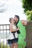 Katy & Joe's pinwheels, vintage dress, and a walk for a cure wedding