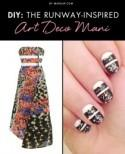 DIY: The Runway-Inspired Art Deco Mani (Peter Pilotto inspired)