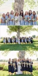Blue and White Backyard Wedding