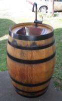How to Make Wine Barrel Outdoor Sink - DIY & Crafts - Handimania